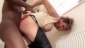 Unfaithful British milf lady Sonia pops out her massive boobs
