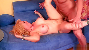 Insatiable blonde milf, Sophia Mounds fucked her neighbor next door